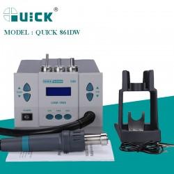 QUICK 861DW 1000W BGA Rework Station Hot Air Gun Intelligent Lead-Free Desoldering Station For SMD/SOIC/CHIP/PLCC/BAG Repair